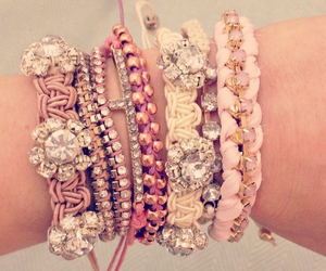 bracelet, pink, and accessories image