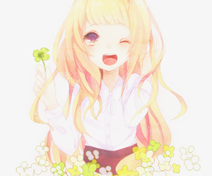 flowers, wink, and smile image