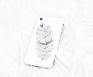 iphone, case, and feather image