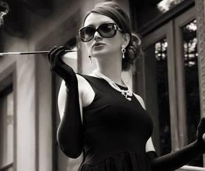 audrey hepburn, black, and classy image