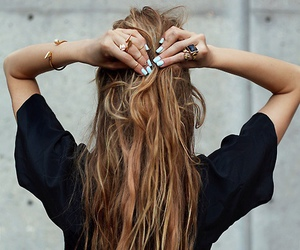 hair, nails, and long hair image