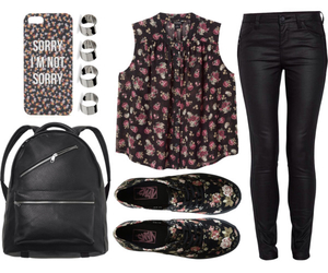 flowers, outfit, and fashion image