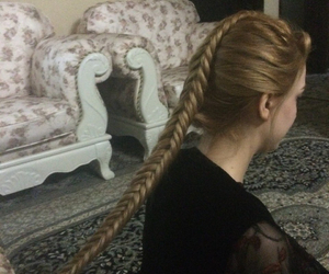blonde hair, braid, and cousin image