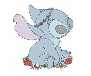 stitch, overlay, and flowers image