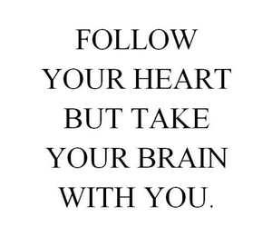 heart, quotes, and brain image