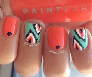 nails, orange, and blue image