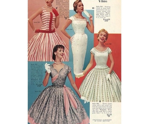 50's, dresses, and fashion image