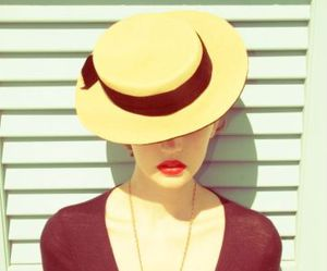 vintage, hat, and woman image
