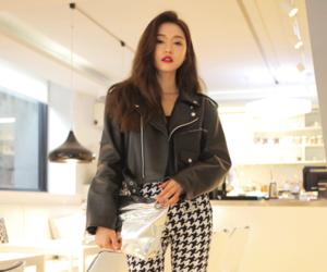 fashion, leather jacket, and street fashion image