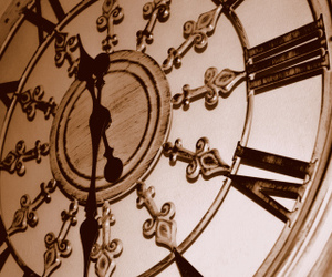 clock and sepia image