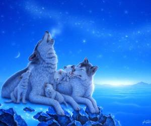 arctic, art, and blue image