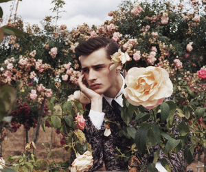 flowers, male model, and adrien sahores image