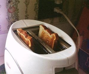 food, toast, and vintage image