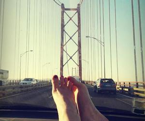 car, feet, and relax image