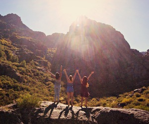 freedom, girls, and mountain image