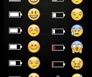 funny, battery, and emoticons image