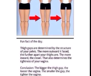 funny and thigh gap image