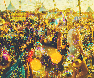bubbles, festival, and summer image