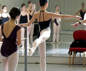 ballet, class, and leotard image