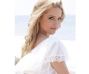 glee, blonde, and dianna agron image