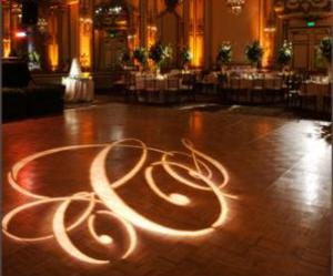 gobo, monogram, and wedding image