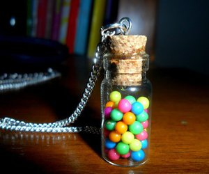 bottle, chain, and lolly image