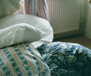 bed, vintage, and pillow image
