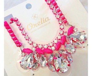 necklaces, pink, and pink necklaces image