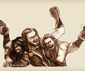 cartoon, the hobbit, and battle of five armies image