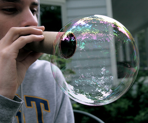 boy, bubbles, and photography image