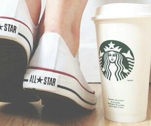 converse, starbucks, and all star image