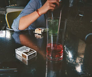 cigarette, alcohol, and drink image