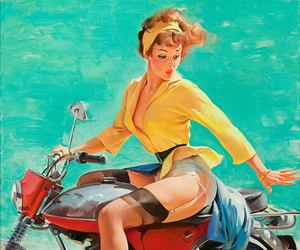 Pin Up, vintage, and art image