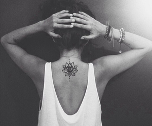 black and white, indie, and lotus image