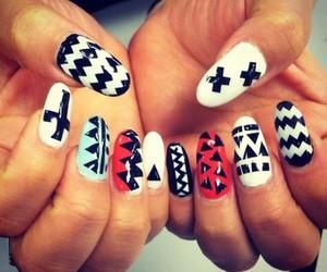 nail art, tribal, and nails image