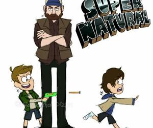 supernatural, bobby, and gravity falls image