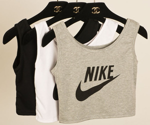 chanel, nike, and crop top image
