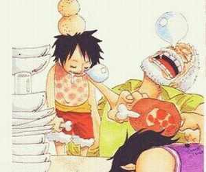 one piece, luffy, and portgas d ace image