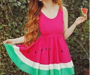 watermelon, dress, and clothes image