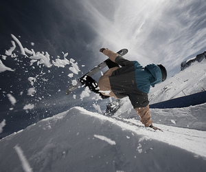 snowboard and snow image