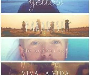 coldplay, paradise, and yellow image