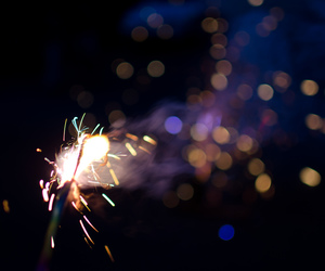bokeh, love, and fireworks image