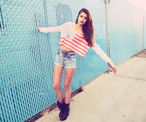 girl, shorts, and model image