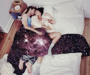 bed, nebula, and cuddle image