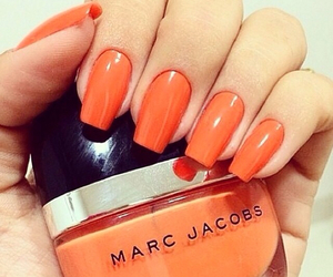 nails, marc jacobs, and orange image