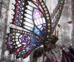 butterfly, steampunk, and gothic image