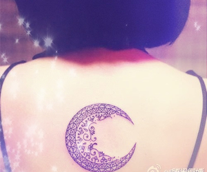 cool, tattoo, and moon image