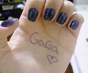 gaga, hand, and girl image