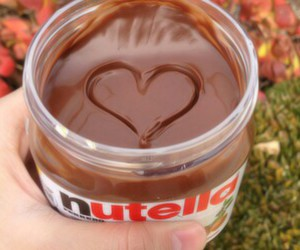 nutella, chocolate, and heart image