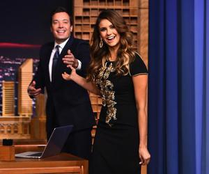 jimmy fallon, Nina Dobrev, and tonight show image